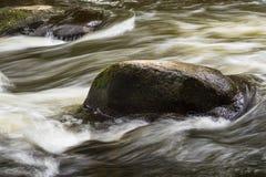 A paisagem com rio prognostica na área de Harz, Alemanha Imagens de Stock Royalty Free