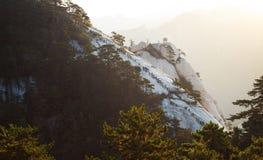 Paisagem com rochas brancas Imagem de Stock