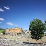 Paisagem com ruínas antigas em Turquia Imagem de Stock