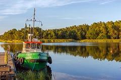 Paisagem com um barco Fotos de Stock Royalty Free