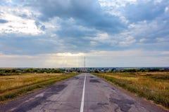 Paisagem com uma estrada Imagem de Stock