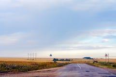 Paisagem com uma estrada Fotos de Stock Royalty Free