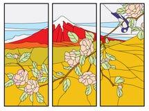 Paisagem com uma montanha ilustração stock