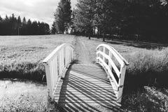 Paisagem com uma ponte Fotos de Stock