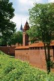 Paisagem com uma torre Malbrok do castelo Fotografia de Stock