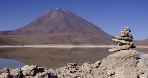 Paisagem com uma vista das montanhas Imagens de Stock