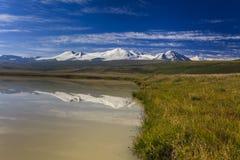 Paisagem com uma vista do lago Imagens de Stock