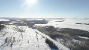 Paisagem congelada do lago video estoque