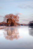 Paisagem da água do inverno Imagens de Stock Royalty Free
