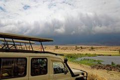 Paisagem da área da conservação de Ngorongoro, Tanzânia Foto de Stock
