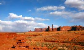 Paisagem da área do deserto do vale E.U. do monumento Fotos de Stock