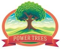 Paisagem da árvore e da natureza no quadro Fotografia de Stock