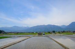 Paisagem da bacia de Matsumoto, Nagano, Japão Imagem de Stock