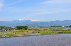 Paisagem da bacia de Matsumoto, Nagano, Japão Fotos de Stock