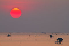 Paisagem da beleza com nascer do sol Fotografia de Stock Royalty Free