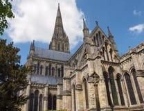 Paisagem da catedral de Salisbúria, Inglaterra imagem de stock