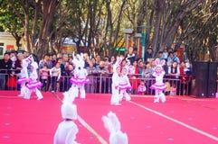Paisagem da cena dos desempenhos teatrais do jardim de infância Fotos de Stock Royalty Free