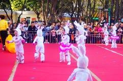 Paisagem da cena dos desempenhos teatrais do jardim de infância Imagem de Stock Royalty Free
