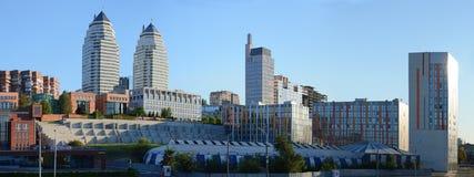 Paisagem da cidade de Dnipropetrovsk imagem de stock royalty free