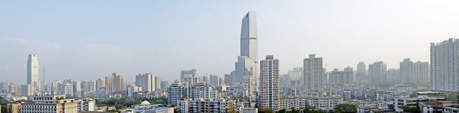 A paisagem da cidade de Guangzhou na porcelana Imagem de Stock Royalty Free