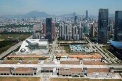 Paisagem da cidade de Shenzhen fotos de stock royalty free