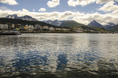 Paisagem da cidade de Ushuaia Imagem de Stock Royalty Free