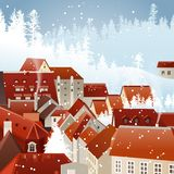 Paisagem da cidade do inverno Imagem de Stock Royalty Free