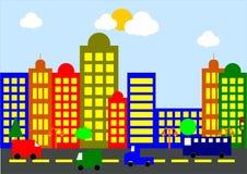 Paisagem da cidade dos desenhos animados imagem de stock