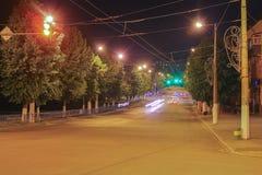 Paisagem da cidade na noite no verão Imagem de Stock Royalty Free