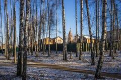 Paisagem da cidade da região de Moscou, Rússia Imagem de Stock Royalty Free
