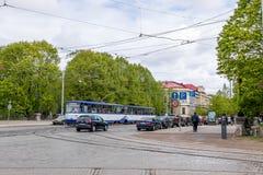 A paisagem da cidade Riga, Latvia foto de stock royalty free
