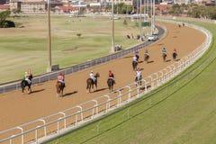 Paisagem da corrida de cavalos Fotografia de Stock