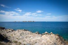 Paisagem da costa em Dalmácia, Croácia Foto de Stock Royalty Free