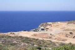 Paisagem da Creta fotos de stock