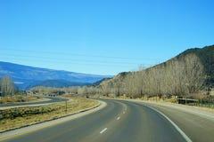 Paisagem da estrada de Colorado Foto de Stock Royalty Free