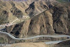 Paisagem da estrada do mauntain de Maroko, Fotografia de Stock Royalty Free