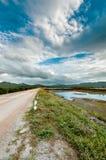 Paisagem da estrada e do março do solo Imagem de Stock Royalty Free