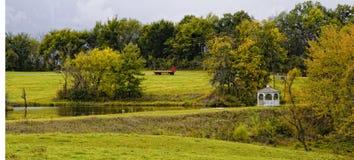 Paisagem da exploração agrícola Fotos de Stock