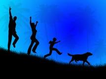 Paisagem da família Imagem de Stock