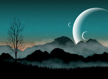 Paisagem da ficção científica Imagens de Stock Royalty Free