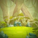 Paisagem da floresta dos desenhos animados Imagem de Stock