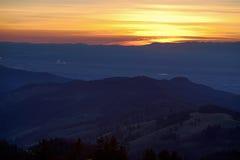Paisagem da Floresta Negra no por do sol Foto de Stock Royalty Free