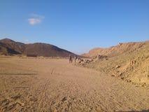 Paisagem da foto de montanhas do deserto Fotografia de Stock Royalty Free