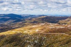 Paisagem da fuga da cimeira de Kousciuszko da montagem Novo Gales do Sul, Austr Imagens de Stock Royalty Free