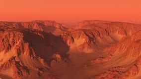 Paisagem da garganta da montanha em Marte ilustração royalty free