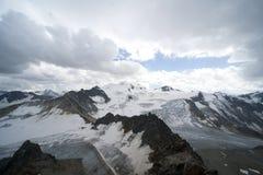 Paisagem da geleira nos alpes Fotografia de Stock Royalty Free
