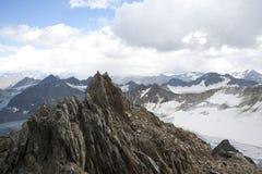 Paisagem da geleira nos alpes Foto de Stock