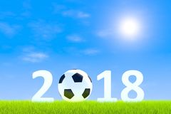 Paisagem da grama verde do futebol 2018 Fotografia de Stock