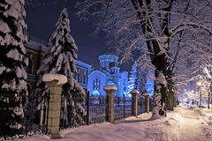 Paisagem da igreja santamente da trindade em Banja Luka fotografia de stock