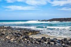 Paisagem da ilha de Lanzarote, Canaries Foto de Stock Royalty Free